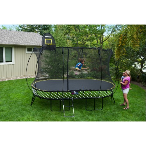 Softbounce And Hardbounce Mini Trampolines: 13 X 8ft Large Oval Springfree Trampoline & Safety Net